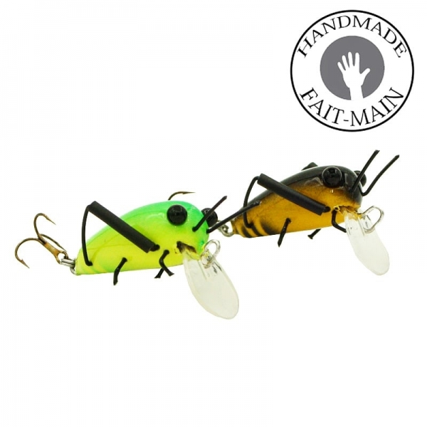 Hand made lure Grasshopper